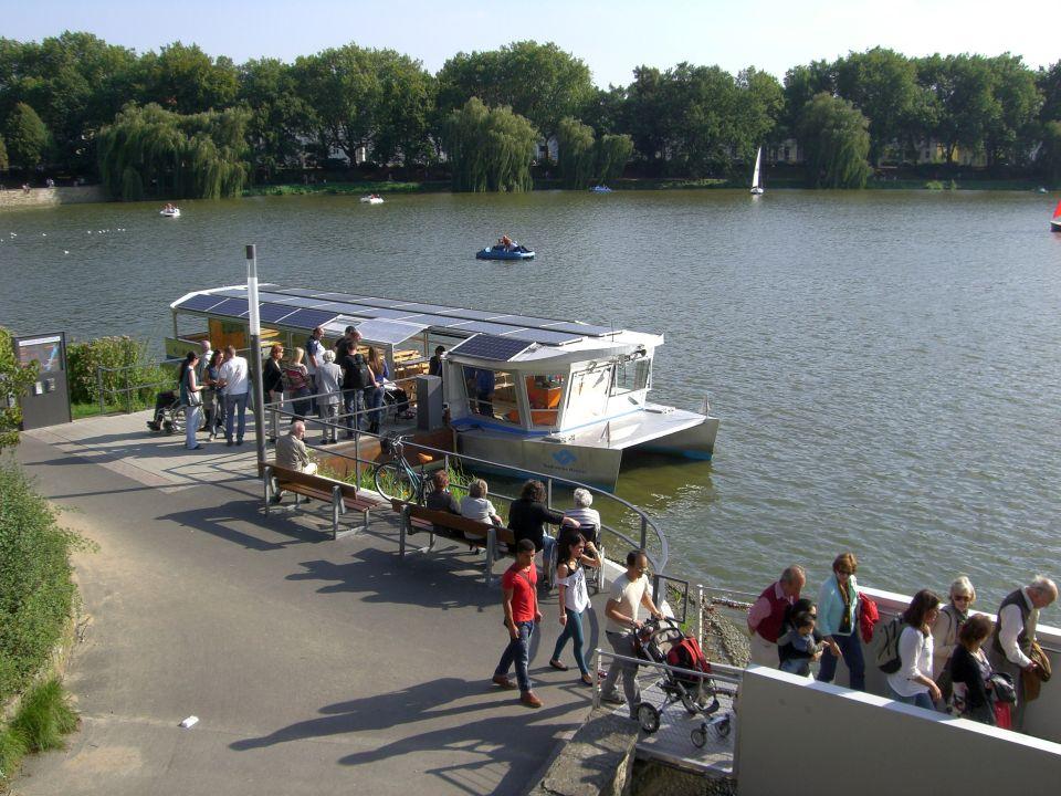 Solarschiff Solaaris auf dem Aasee in Münster